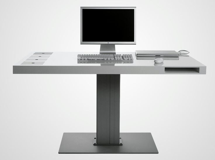 Small Pc Table Part - 39: Minimalist Modern Computer Desk With Metal Material   Computer Desk    Pinterest   Desks, Minimalist And Modern Minimalist