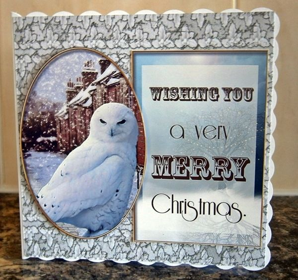 Christmas Card made from free Debbi Moore download sheet