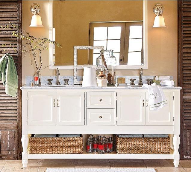 bathroom.Bathroom Design, Decor Ideas, Bathroom Inspiration, Bathroom Vanities, Bathroom Remodeling, Bathroom Ideas, Master Bath, Pottery Barn, Double Sinks