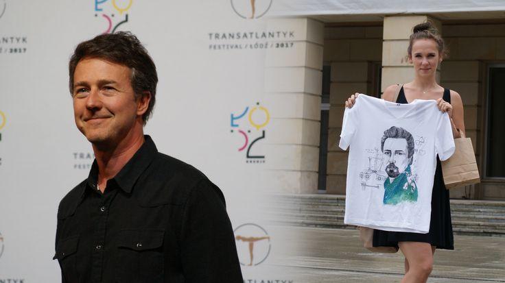 Edward Norton Hand-painted t-shirt. Łódź Transatlantyk Festival <3