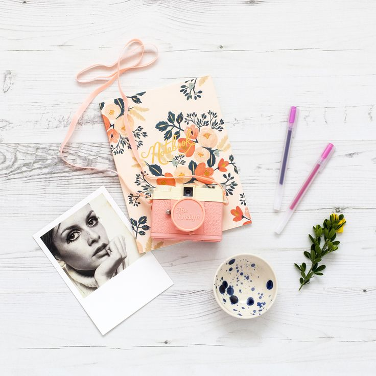 Twiggy, Rifle Paper Co and a pink Diana camera