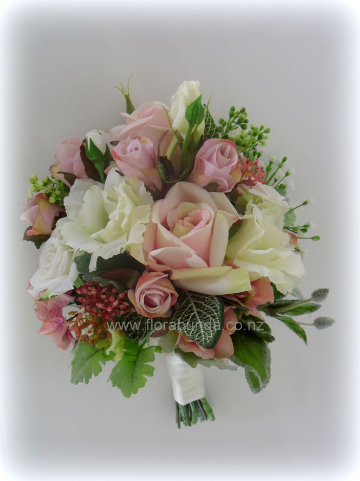 Mixed garden flowers in realistic fake flowers!