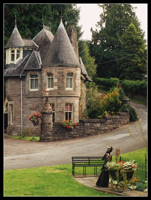 ~Pitlochry is a burgh in the council area of Perth and Kinross, Scotland, lying on the River Tummel. It is largely a Victorian town, which developed into a tourist resort due to Queen Victoria visiting the area in 1842, and the arrival of the railway in 1863.
