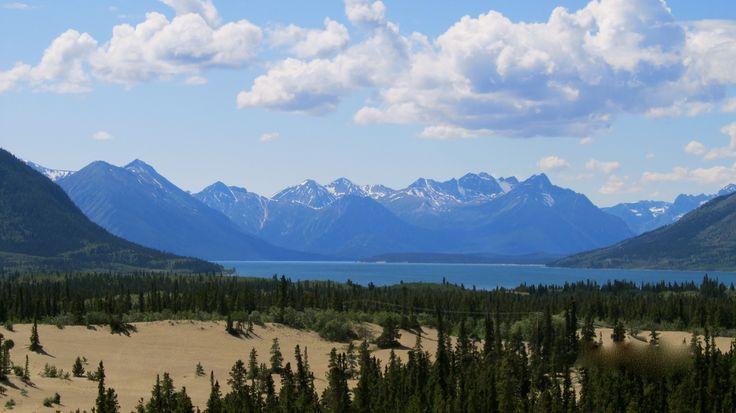 Carcross desert view of Bennett Lake, Yukon Territory