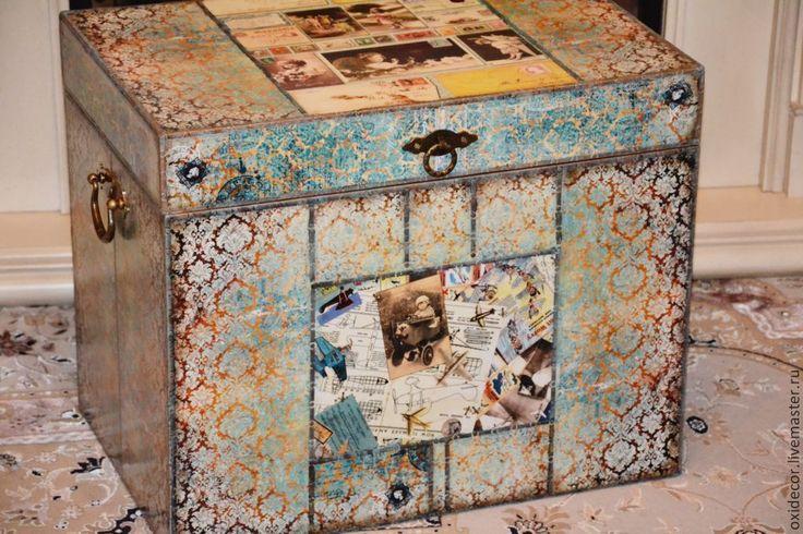Купить ВИНТАЖНЫЙ КОЛОРИТ - сундук, сундук деревянный, сундук для игрушек, детская, детская комната, для детей