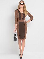 Платье Stets  Трикотажное платье выполненное в стиле color-block с рукавами 3/4.. Платье Stets промокоды купоны акции.