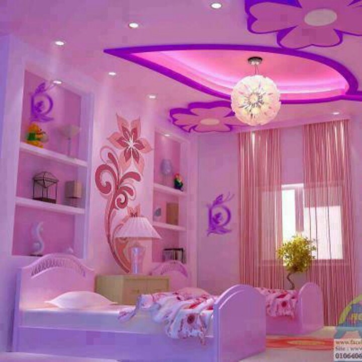 Such a cute bedroom for girls.