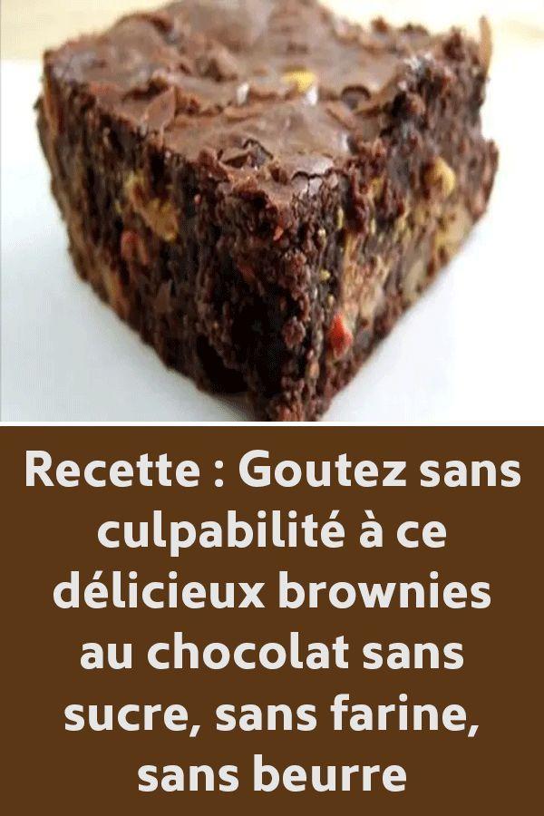 Recette : Goutez sans culpabilité à ce délicieux brownies ...