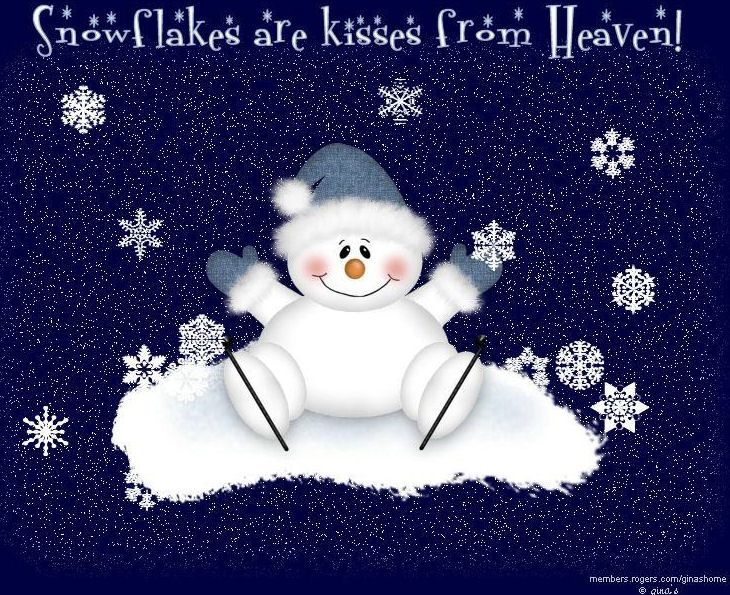 Snowflakes Cute Snowman Christmas Quotes Winter Quotes Wiinter