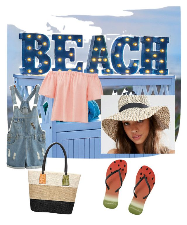 """""""sun time :)"""" by thisismedika on Polyvore featuring Improvements, Rebecca Taylor, Pimkie and beachtotes"""
