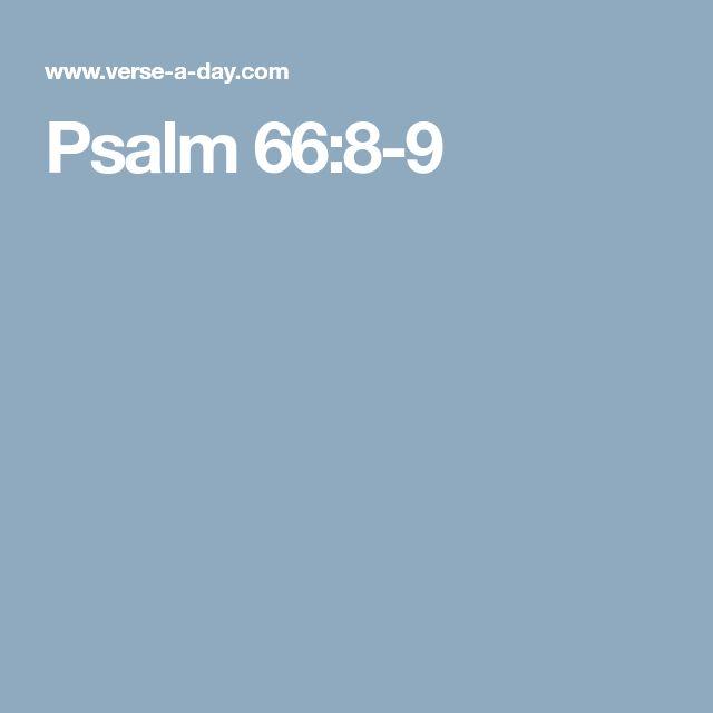 Psalm 66:8-9