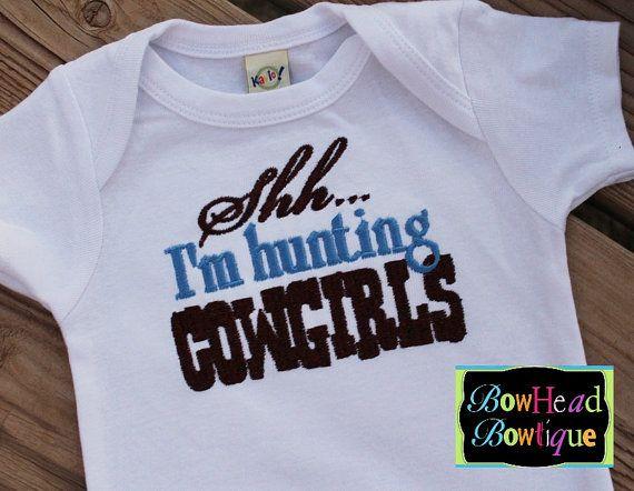 Shhh I'm Hunting Cowgirls  Boys Boutique by BowHeadBowtiqueInc, $20.00