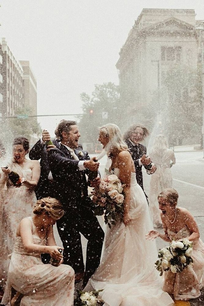 100+ Must-Have Wedding Photos (Ideas Gallery & Tips) ❤️ must-have wedding photos wedding party with the champagne wynwileyphoto ❤️ See more: http://www.weddingforward.com/must-have-wedding-photos/ #wedding #bride #weddingphotography #weddingphotos