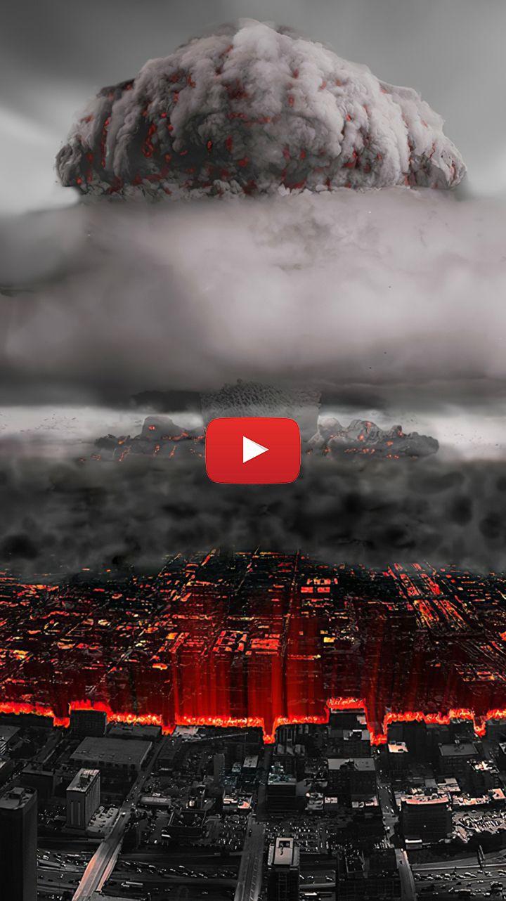 Nuclear Explosion Art Mushrooms Mushroom Cloud Illustration Explosions Nuclear Explosion Gif In 2020 Live Wallpapers Cloud Illustration Rain Wallpapers