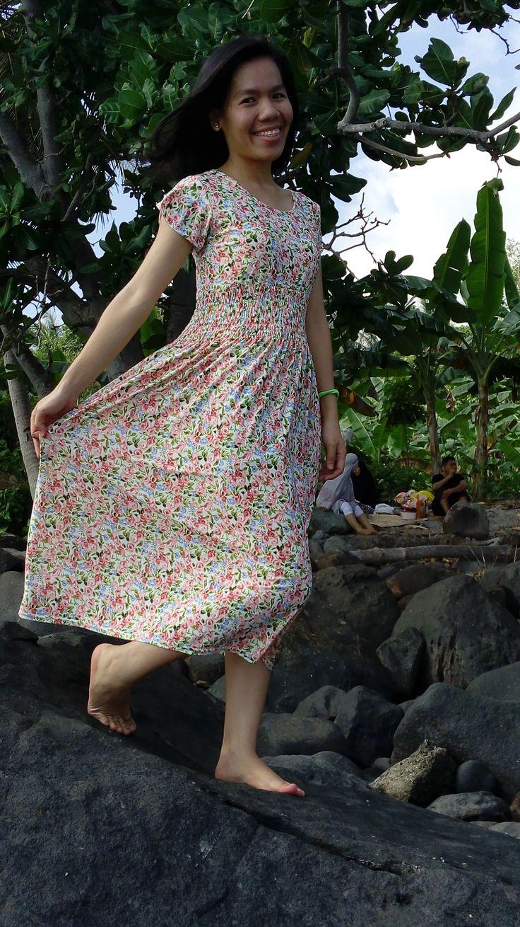 #spandek #long #dress #flowers