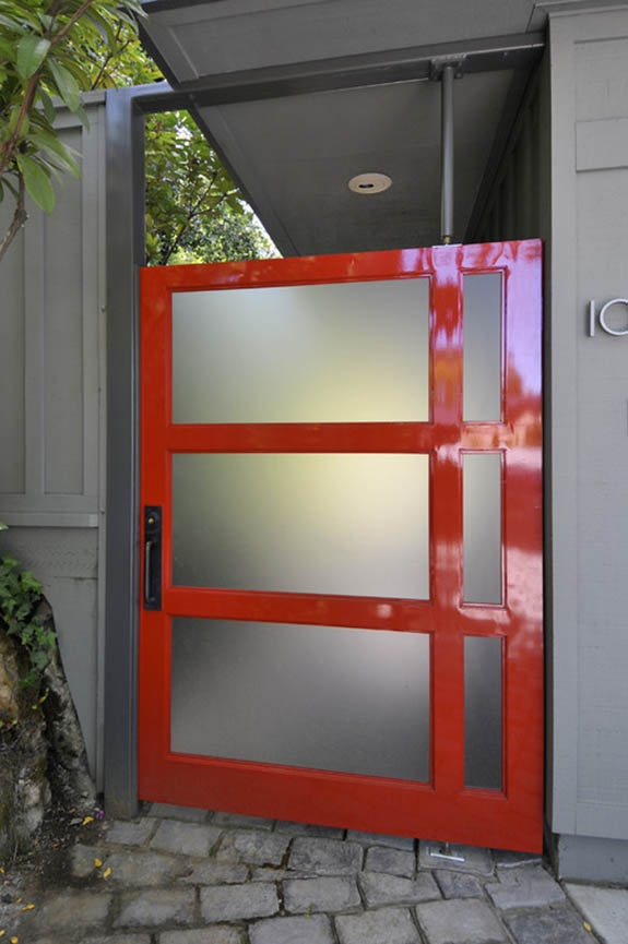 If we added a garage and had to re-work the front door... Modern Red Front Door