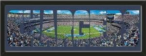 Personalize Your Name With Framed San Diego Chargers Qualcomm Stadium Large Panoramic Behind Your Name Or Purchase as -CHARGERS- Letter Cut Out-Framed Awesome & Beautiful