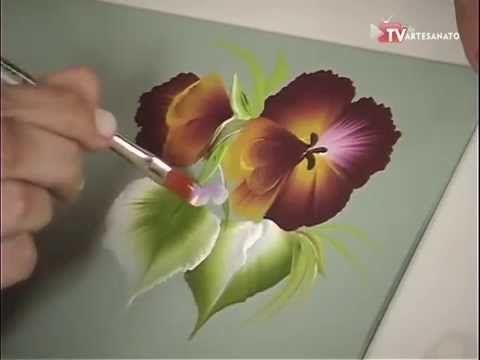 Pintura Gestual - Amor Perfeito - YouTube