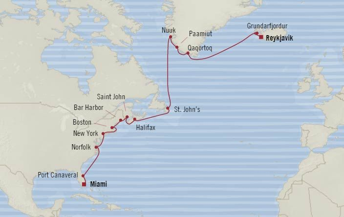 Itinerary & Fares - Scandinavian Treasures - Special Offer Special offer includes: Bonus Savings, Airfare & Unlimited Internet plus choose one of the below FREE - 8 Shore Excursions  FREE - Beverage Package  FREE - $800 Shipboard Credit  Amenities are per stateroom