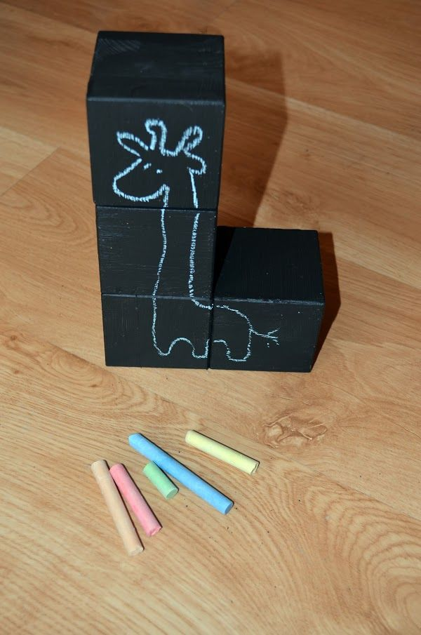 kreatywnik - klocki z farbą tablicową