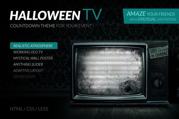 Check out Halloween TV – HTML Countdown Theme by ArtRow Team on Creative Market
