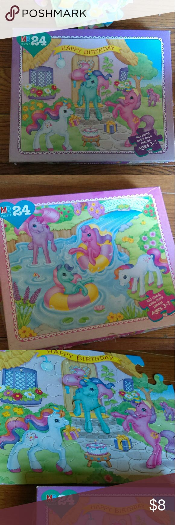 Vintage my little pony Puzzles one is missing a corner piece and boxes are in fragile shape but still a great collection to have Disney Other