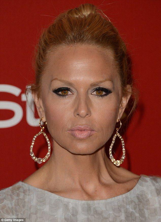 Rachael Zoe's face at the Golden Globes awards