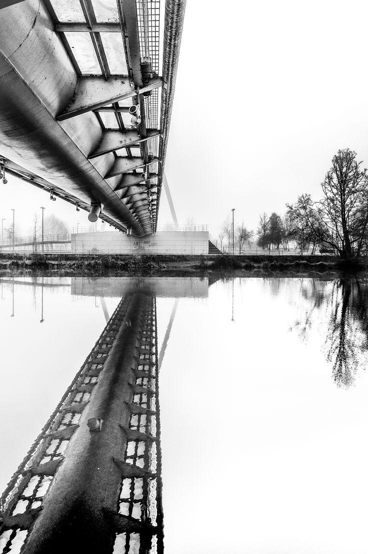 Contrast & symmetry - Walking in the kingdom of mist...