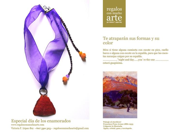 Colgante La Montaña  $84 - 65€  www.regalosconmuchoarte.com