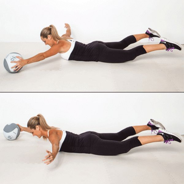 Stability Ball Side Lift: Just Squat. Images On