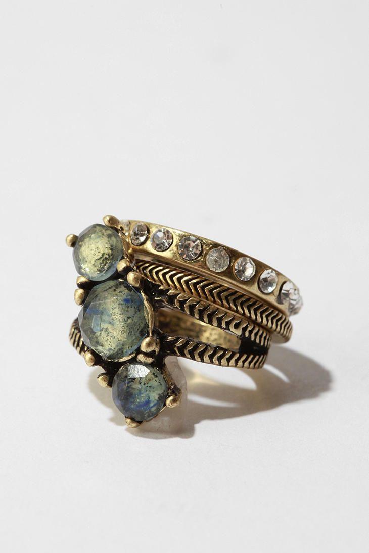 ☯☮ॐ American Hippie Bohemian Style ~ Boho Stacking rings