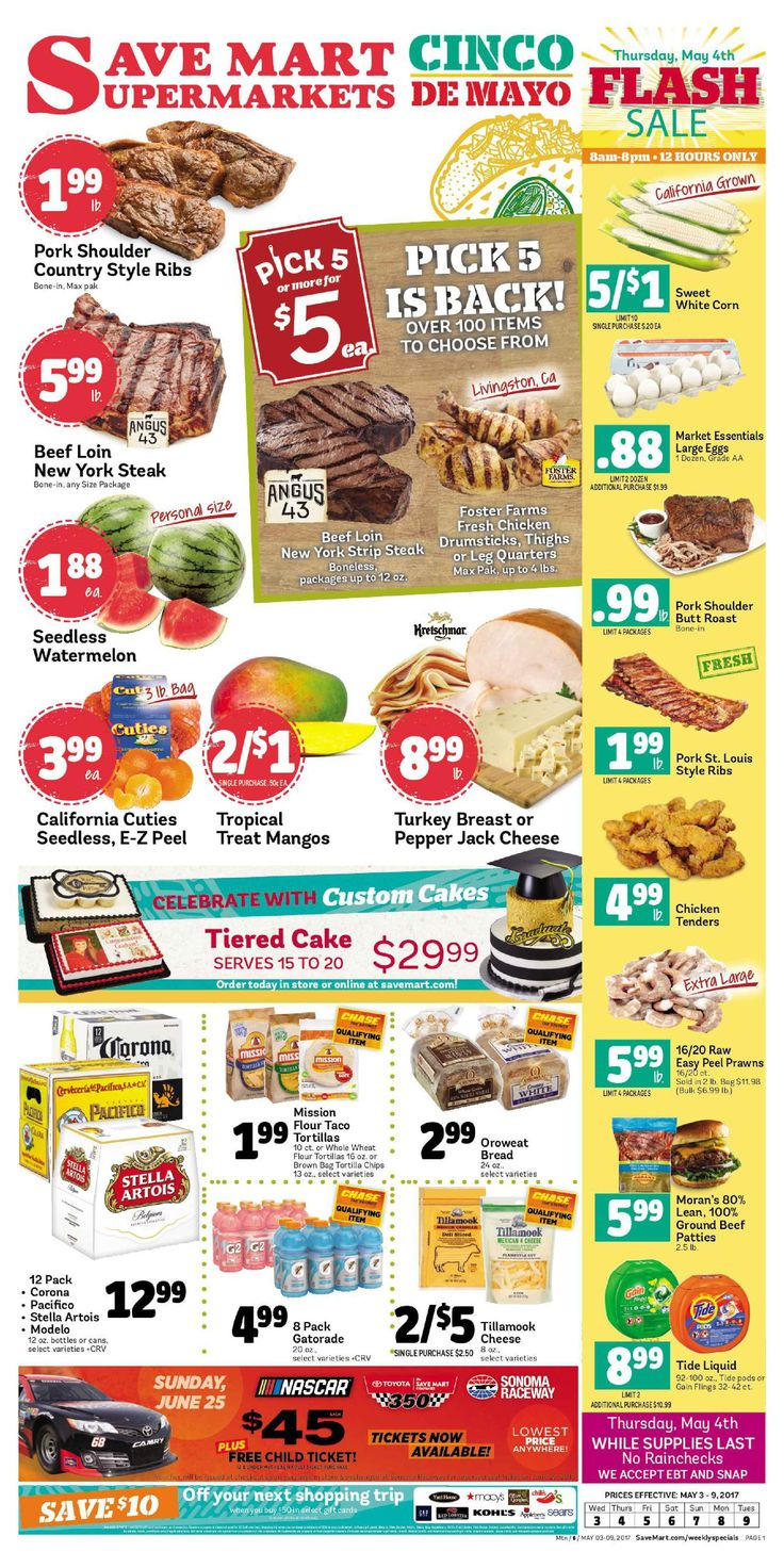 Save Mart Weekly ad May 3 - 9, 2017 - http://www.olcatalog.com/save-mart/save-mart-weekly-ad.html