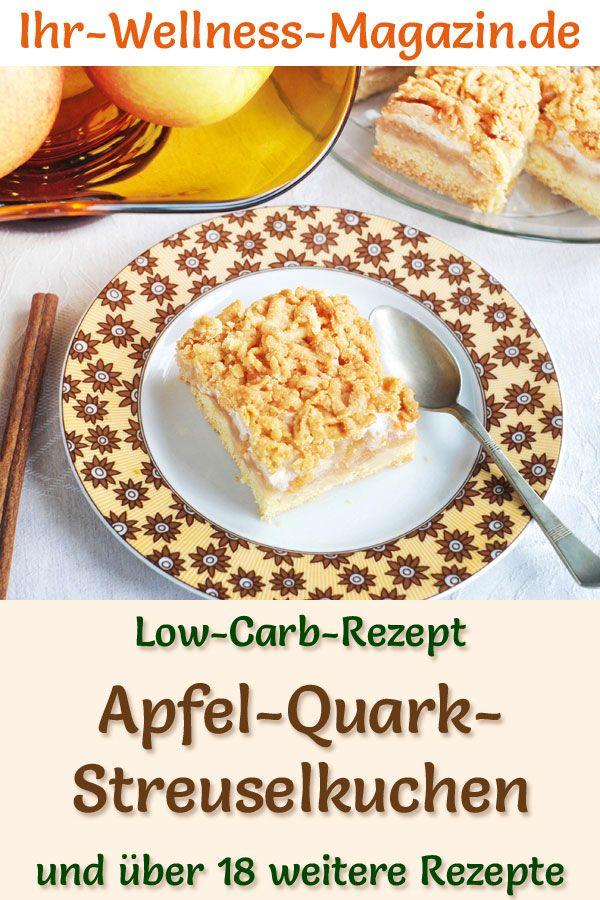 Low Carb Apfel Quark Streuselkuchen Mit Zimt Rezept Ohne Zucker Streusel Kuchen Quark Streuselkuchen Streuselkuchen