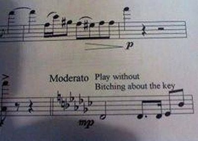 Modern composers who find themselves really edgy. | 25 Problems Only People Who Have Played In A School Orchestra Will Understand