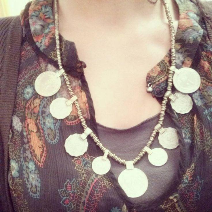 #Collana di monete - #India - #Frida #Handmade