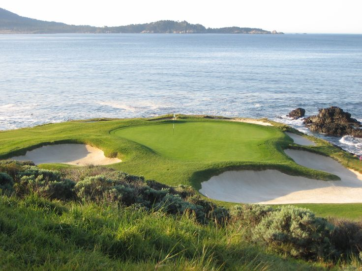 Hole #7 Green, Pebble Beach Golf Links.  107 Yard Par 3.
