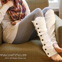 Button Up Leg Warmers