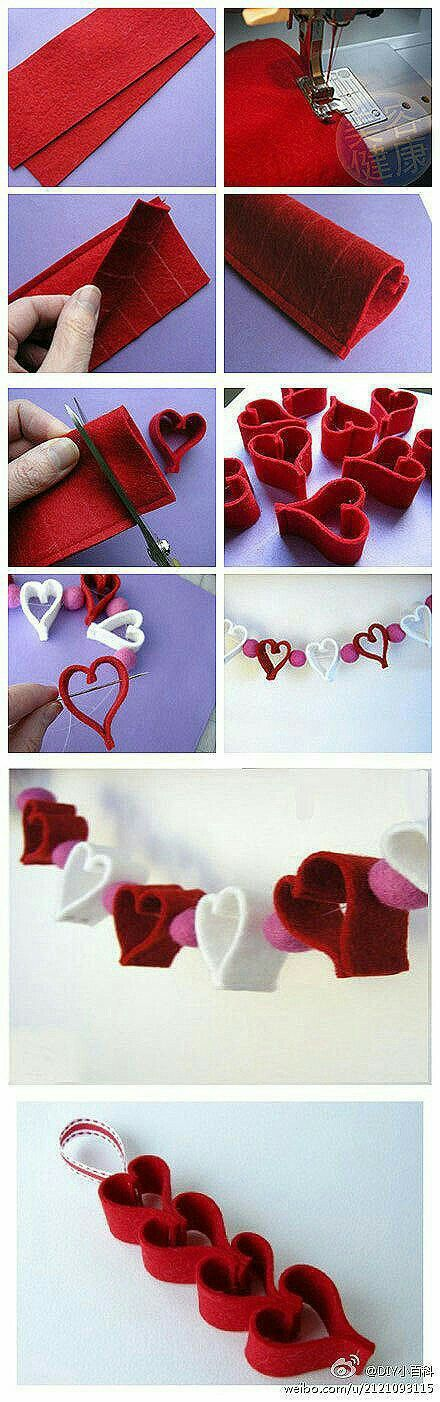 phototurorial ... felt heart bunting ...