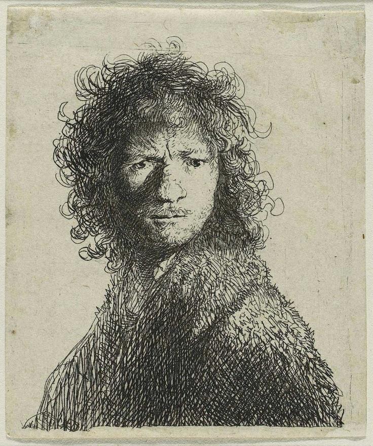 Self Portrait,  1630  Rembrandt Harmensz. van Rijn, Dutch, 1606–1669  Sheet: 6.8 x 5.7 cm (2 11/16 x 2 1/4 in.)  Etching