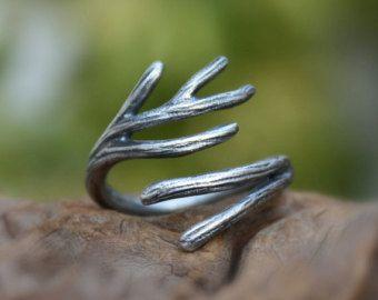Gemma citrino anello ramo anello-Sterlina di aifosjewels su Etsy