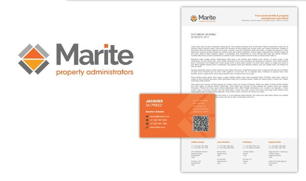 Marite Brand. Marite is an established property administrator company with highly qualified and experienced professionals. Liquid Edge created a logo that is corporate and modern but with a friendly, approachable undertone. Services rendered include branding, blog, copywriting, corporate identity design and web design. Liquid Edge Web development iconWeb development