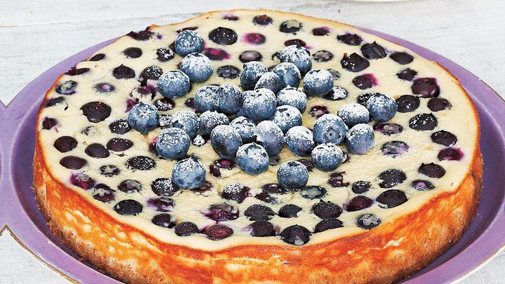 Ostekake med blåbær