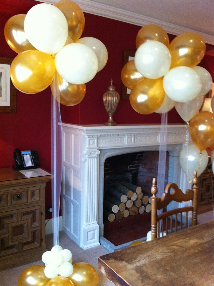 gold and ivory balloon topiary trees Food