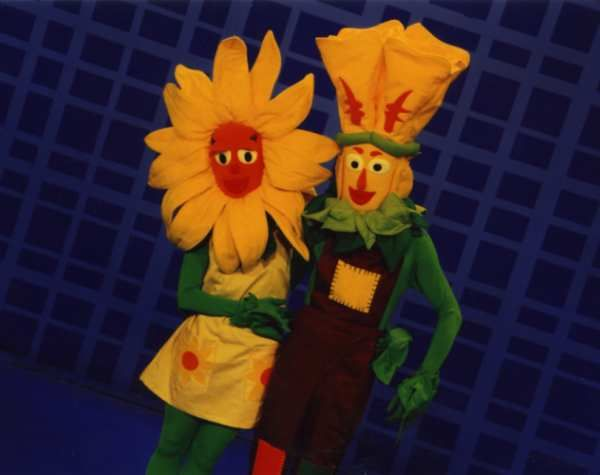 Andy Sinclair as a flower character for a pilot TV show