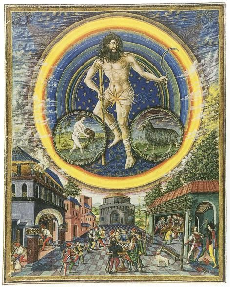 Alchemy: Saturn. De Sphaera Biblioteca Estense Universitaria (Modena, Italy), 15th century. An #Alchemy artwork.