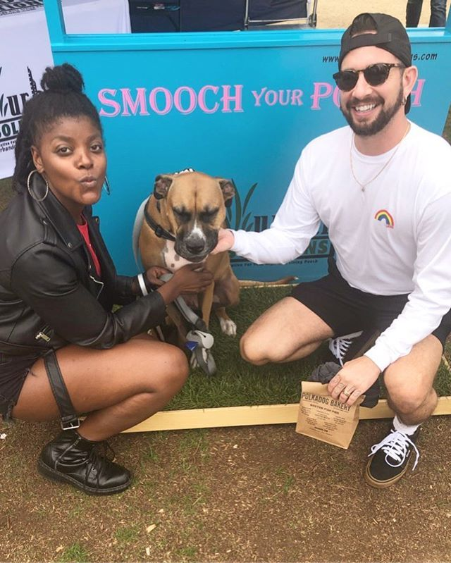The Ham Stagramm And Family Enjoying Our Smooch Your Pooch At World Dog Day Sitting On Our Urbandogsolutions Pee Patch How Dog Solution Urban Dog Dog Days