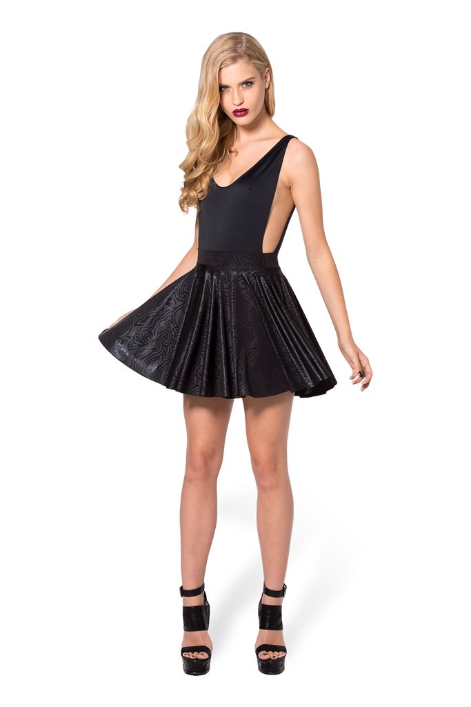 Black Wax Cheerleader Skirt - LIMITED by Black Milk Clothing $70AUD