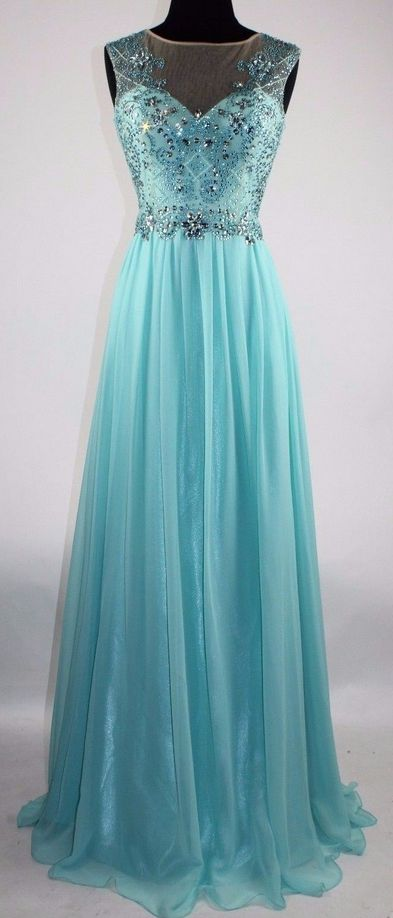 Sexy Prom Dress,Blue Prom Dress,Open Back Beaded