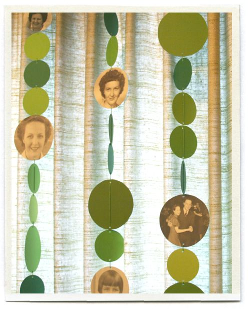 Love this special garland. Must print out pictures and incorporate them into the garland. YES!
