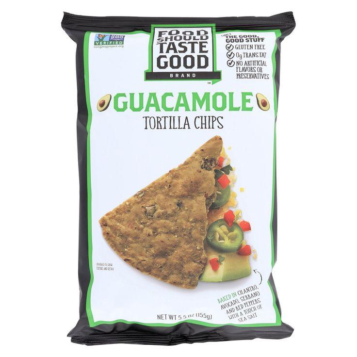 Essen sollte gut schmecken Guacamole Tortilla Chips – Guacamole – Fall von 12 – 5.5 Unze